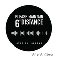 Social Distancing Floor Decal - Large Circle