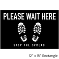 Social Distancing Floor Decal - Large Rectangle