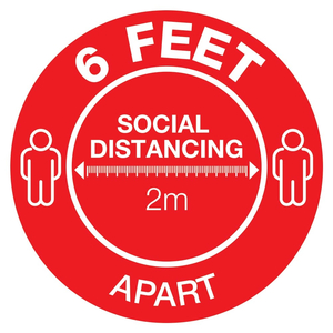 Social Distancing Floor Decal - Small Circle